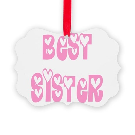 bestsister.png Picture Ornament