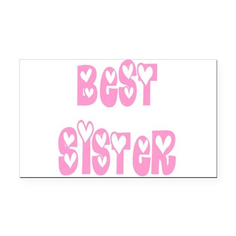 bestsister.png Rectangle Car Magnet