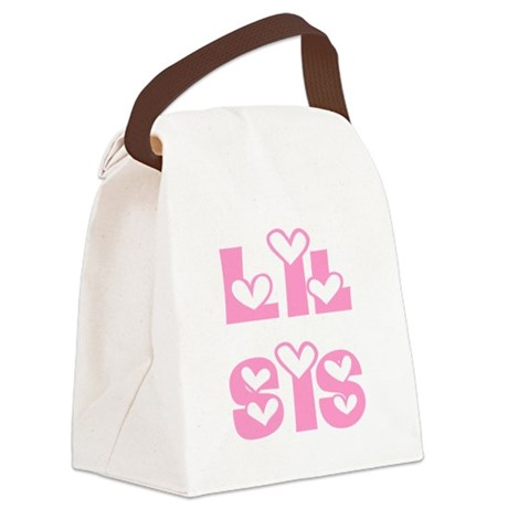 lilsis.png Canvas Lunch Bag