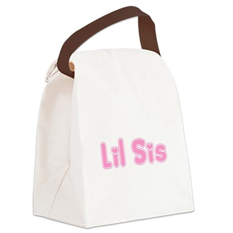 lilsis3.png Canvas Lunch Bag