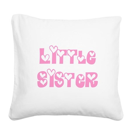 littlesister.png Square Canvas Pillow