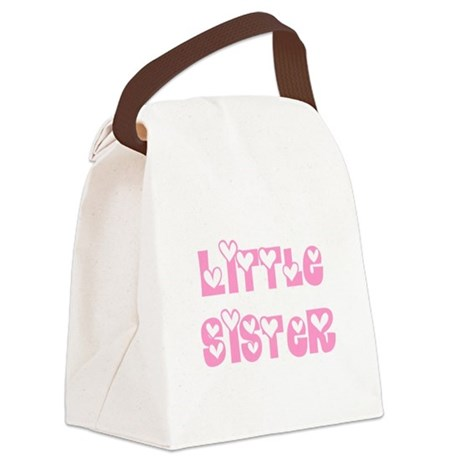 littlesister.png Canvas Lunch Bag