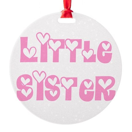 littlesister.png Round Ornament