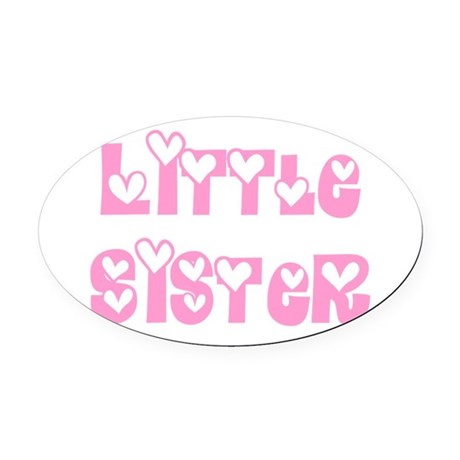 littlesister.png Oval Car Magnet