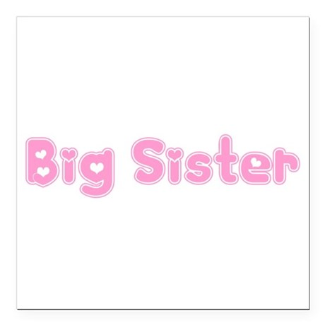 bigsister3.png Square Car Magnet 3&quot; x 3&quot;