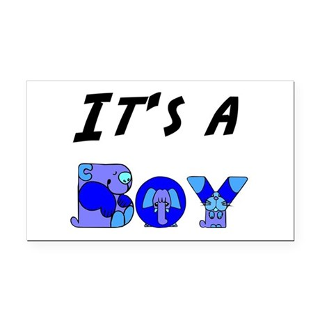 Boy Rectangle Car Magnet