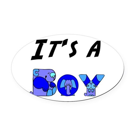 Boy Oval Car Magnet