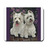 Funny West highland white terriers best Mousepad