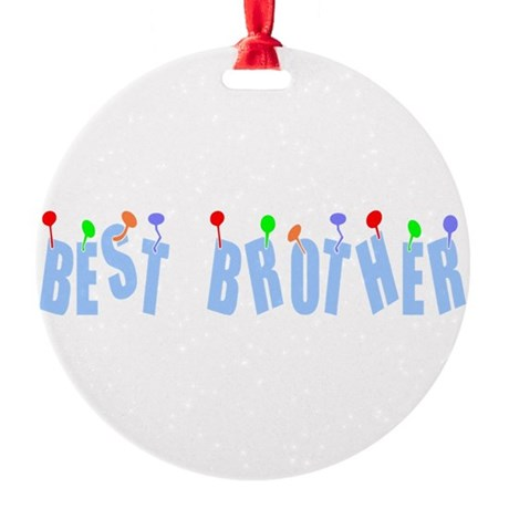 bestbrother.png Round Ornament