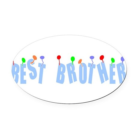 bestbrother.png Oval Car Magnet