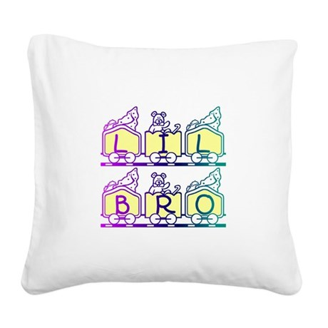 lilbro2a.JPG Square Canvas Pillow