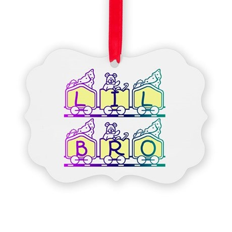 lilbro2a.JPG Picture Ornament