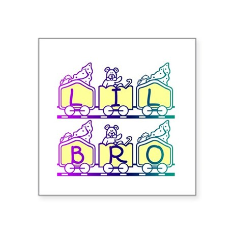 "lilbro2a.JPG Square Sticker 3"" x 3"""