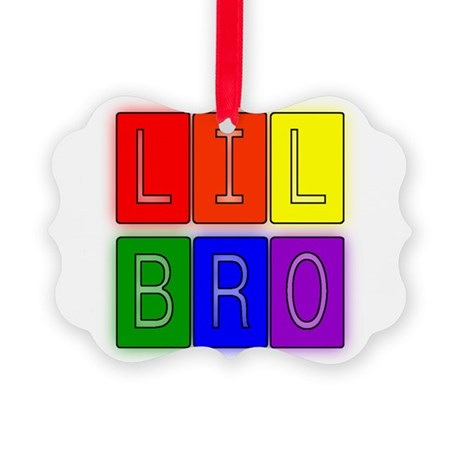 lilbro1.JPG Picture Ornament