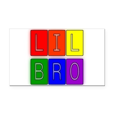 lilbro1.JPG Rectangle Car Magnet