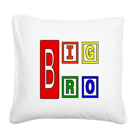 bigbro2.JPG Square Canvas Pillow