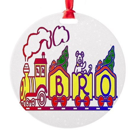 bro2.JPG Round Ornament