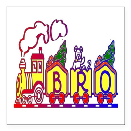 "bro2.JPG Square Car Magnet 3"" x 3"""