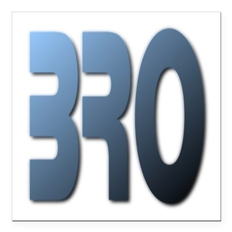"Bro Square Car Magnet 3"" x 3"""