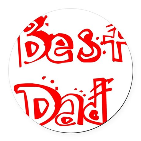 best2c.png Round Car Magnet