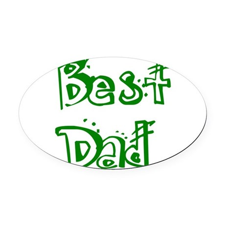 best2d.png Oval Car Magnet