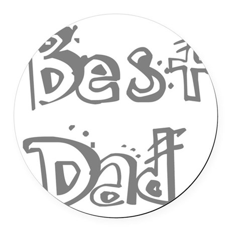 best2f.png Round Car Magnet