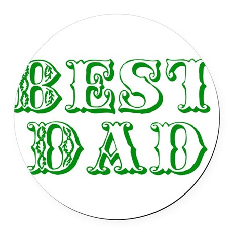 best3e.png Round Car Magnet