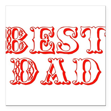 "best3d.png Square Car Magnet 3"" x 3"""