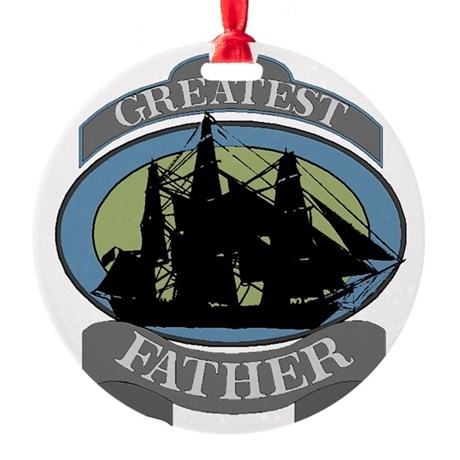 father.png Round Ornament