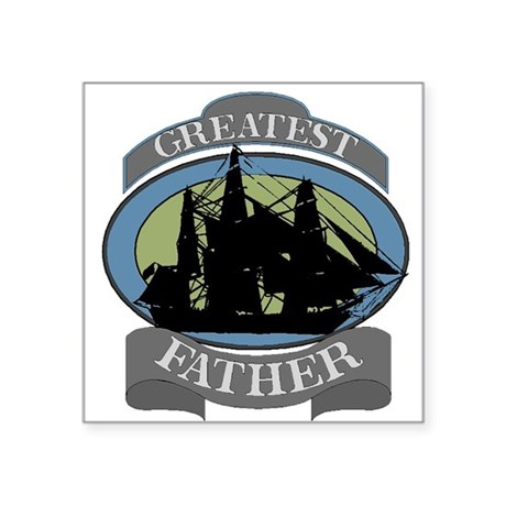 "father.png Square Sticker 3"" x 3"""
