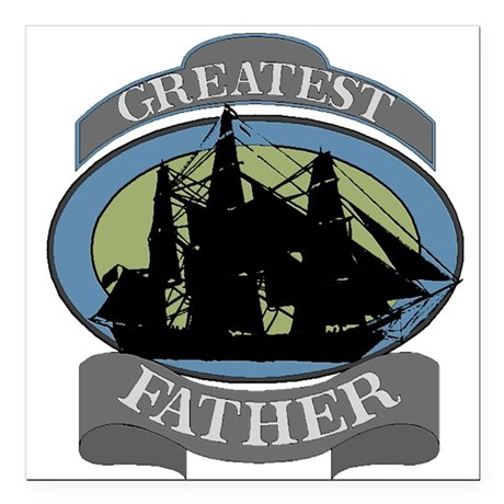 "father.png Square Car Magnet 3"" x 3"""