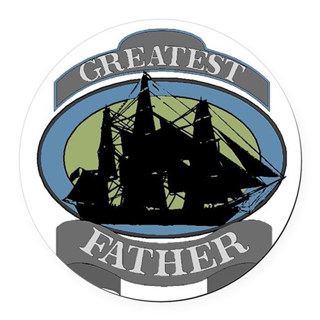 father.png Round Car Magnet