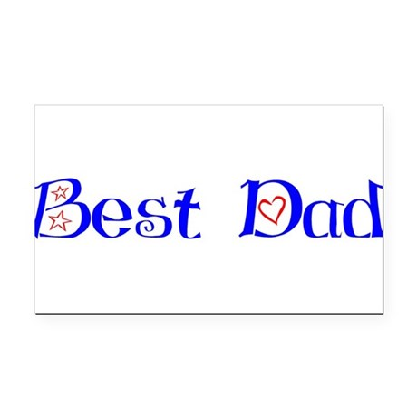 bestdad.png Rectangle Car Magnet