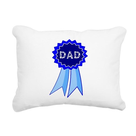dadribbon.png Rectangular Canvas Pillow
