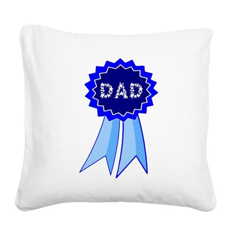 dadribbon.png Square Canvas Pillow