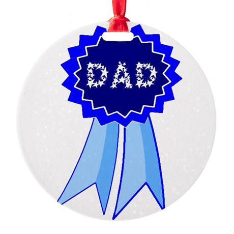 dadribbon.png Round Ornament