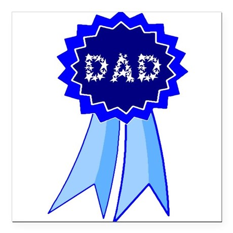 "dadribbon.png Square Car Magnet 3"" x 3"""