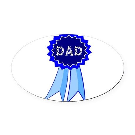 dadribbon.png Oval Car Magnet