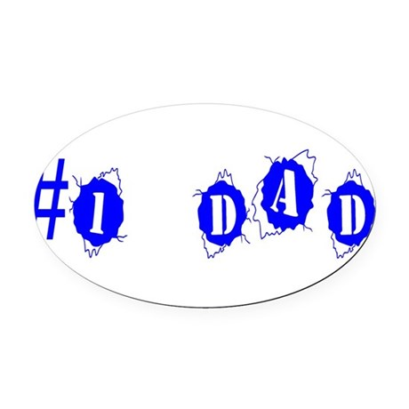 dad4a.png Oval Car Magnet