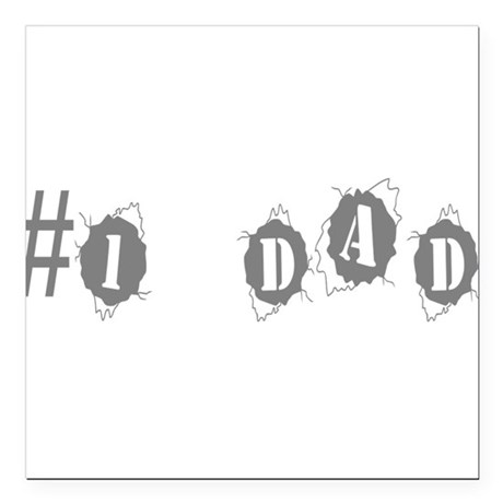 "dad3.png Square Car Magnet 3"" x 3"""