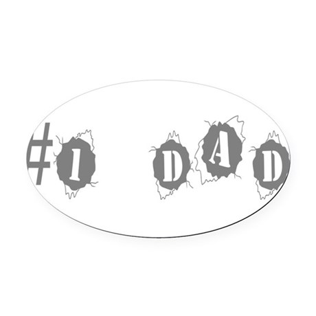 dad3.png Oval Car Magnet