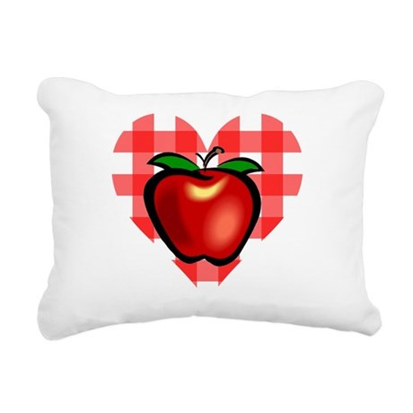 applechecks2.png Rectangular Canvas Pillow
