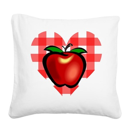 applechecks2.png Square Canvas Pillow