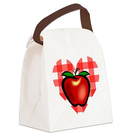 applechecks2.png Canvas Lunch Bag
