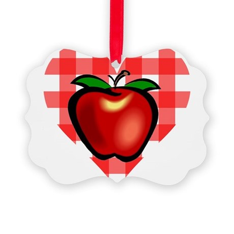 applechecks2.png Picture Ornament