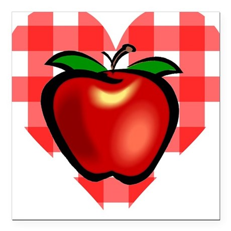 "applechecks2.png Square Car Magnet 3"" x 3"""