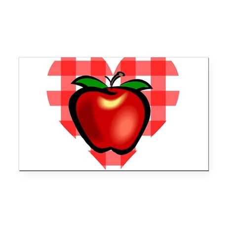 applechecks2.png Rectangle Car Magnet