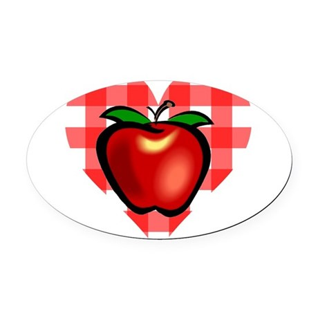 applechecks2.png Oval Car Magnet