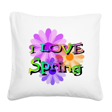 floral2.png Square Canvas Pillow