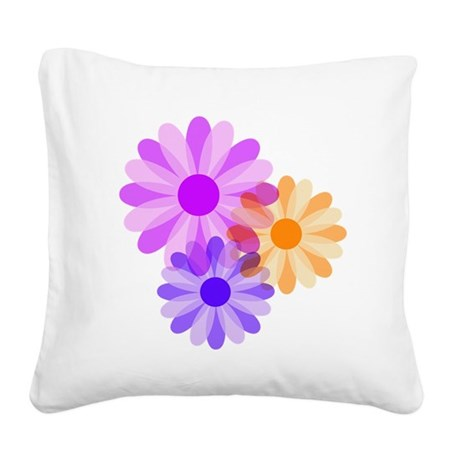 floral.png Square Canvas Pillow
